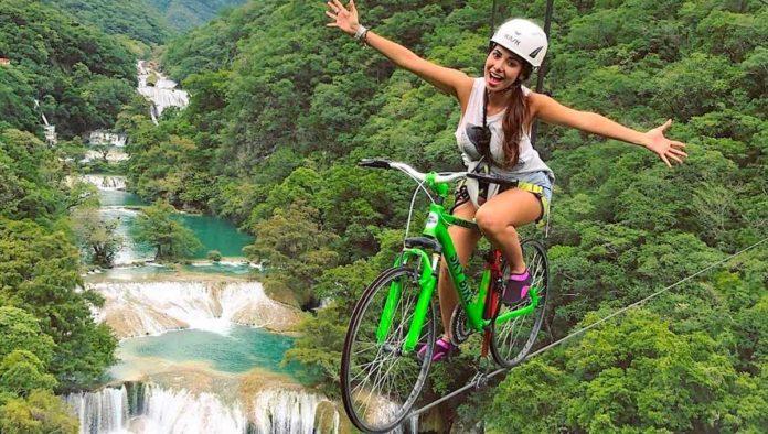 ¿Tirolesa en bicicleta? Anímate a las alturas en SkyBike, en la huasteca potosina