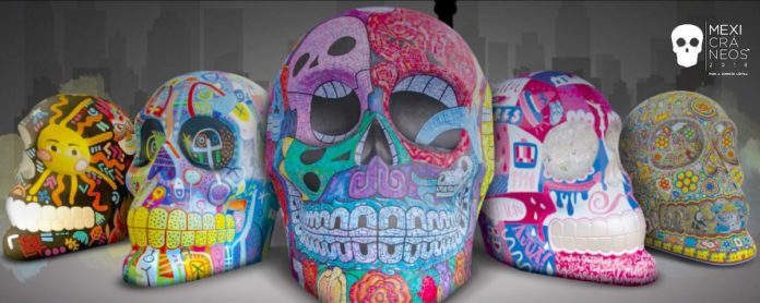 Mexicráneos: Reforma celebra Día de Muertos con cráneos gigantes