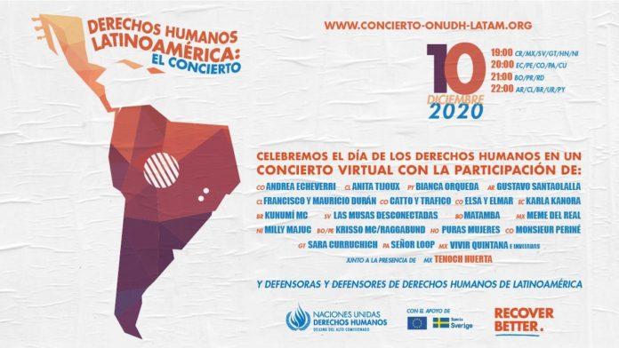 Concierto por los derechos humanos en Latinoamérica