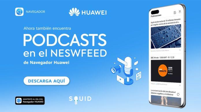 Squid y Huawei ofrecen podcasts y videos de noticias para Latinoamérica