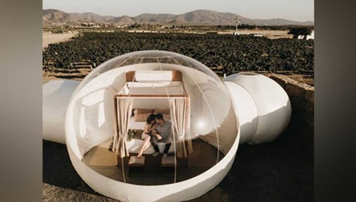 ¿Te imaginas dormir en una burbuja? Hotel Campera lo hace posible