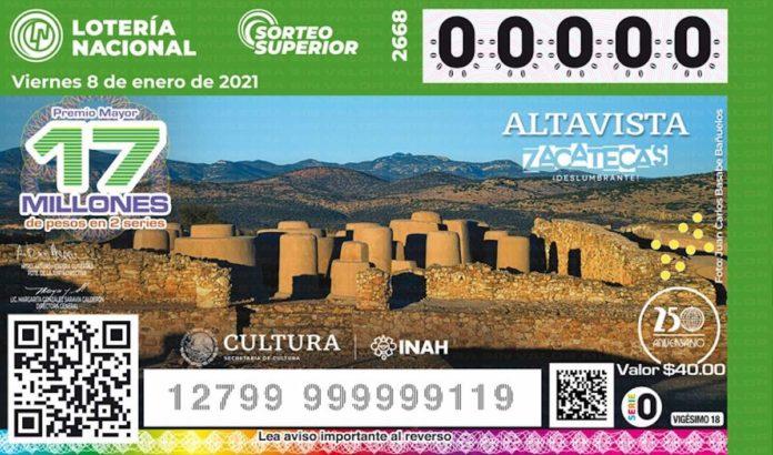 La Lotería Nacional lanza nuevos billetes con la imagen de zonas arqueológicas