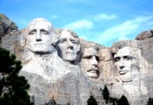 Mount Rushmore en Estados Unidos