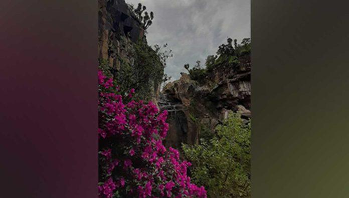 Déjate bañar por la belleza de la cascada El Garruño, en Calvillo