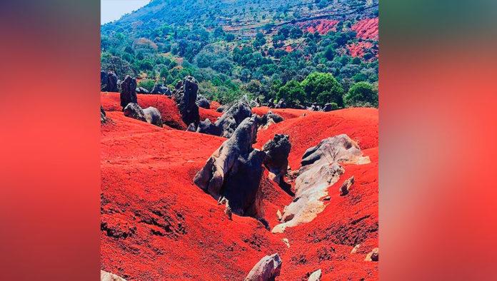 ¡No es Marte! Son las dunas de tierra roja de Pacula