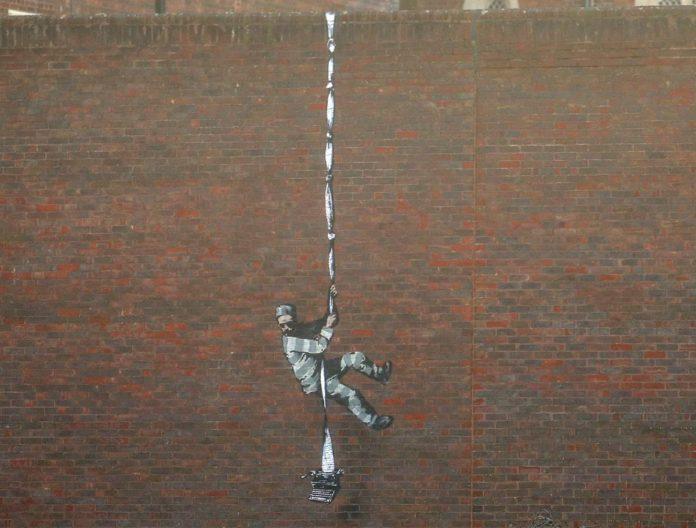 Nueva obra de Banksy aparece en cárcel de Inglaterra