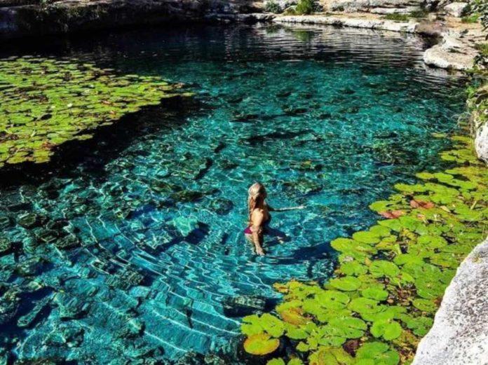 Xlacah, un cenote salido de cuentos de hadas