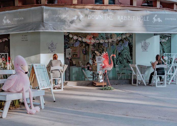 Down the Rabbit Hole: cafetería de Alicia en el país de las maravillas