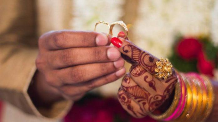 boda en avión en la india