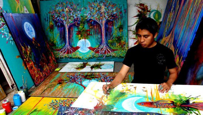Carlos Bazan, el artista oaxaqueño que pintó para Disney