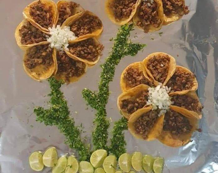 Flores de tacos, el regalo más sabroso de la CDMX
