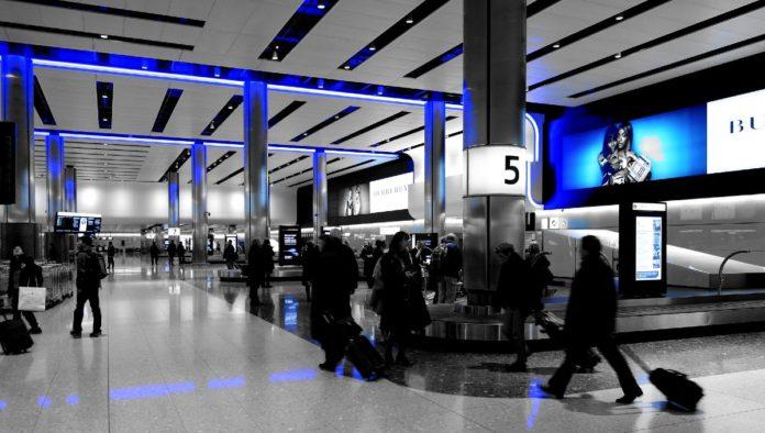 Maleta extraviada en aeropuerto