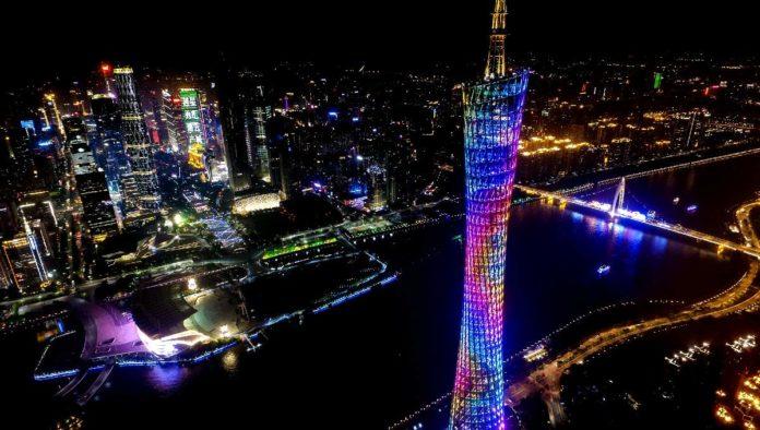 Torre Cantón al sur de China