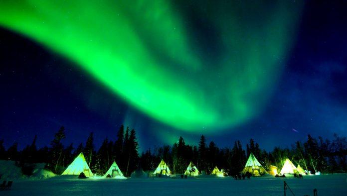 Yellowknife, capital de las auroras boreales en Canadá