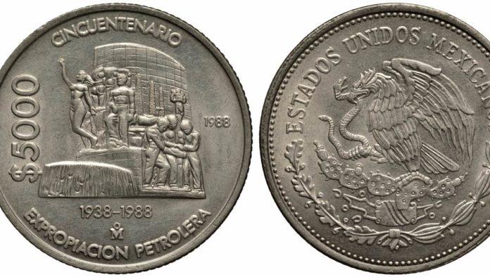 cinco monedas antiguas