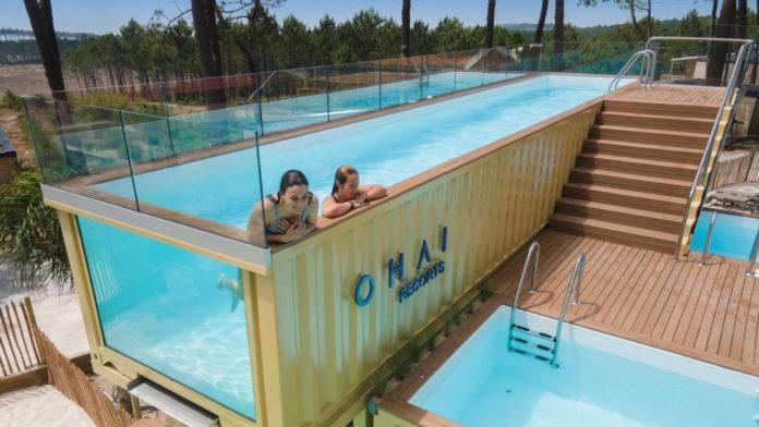 piscina contenedores industriales