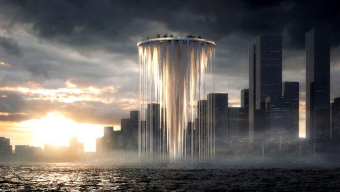Torre flotante en China