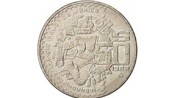 diosa azteca de la luna moneda