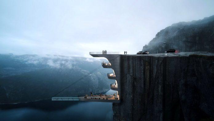 Hotel suspendido en Noruega