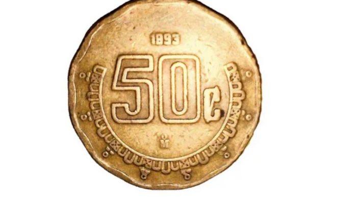 moneda de 50 centavos 9 mil pesos