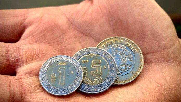 monedas de 5 pesos