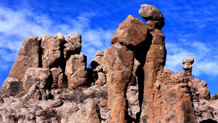 Polvorillas piedaras encimadas en Chihuahua