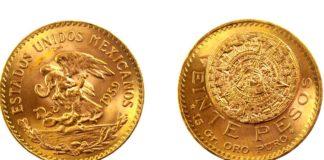 Moneda azteca de 20 pesos