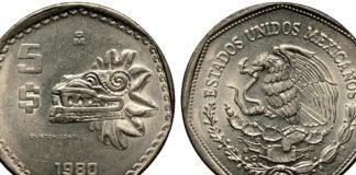 monedas antiguas de 5 pesos