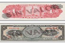 Así era el único billete de 1 peso en México