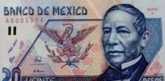 billete de Benito Juárez